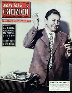 FESTIVAL DI SANREMO 1953: I CANTANTI - LE CANZONI - I TESTI GIORGIO%20CONSOLINI%20COPERTINA%20SORRISI