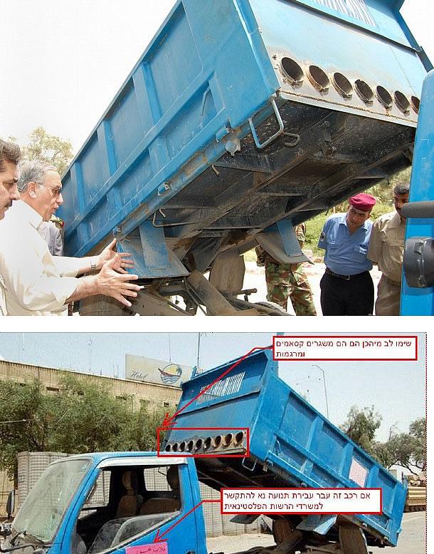 Forces de Résistance Palestiniennes Rocket-missile-dump-garbage-truck