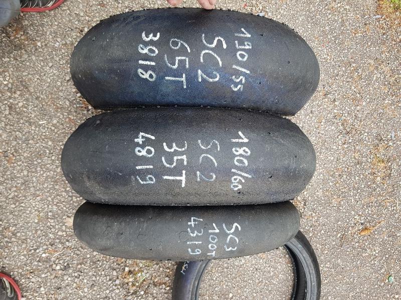 [AV] divers pneu slick dunlop et pirelli. 134053