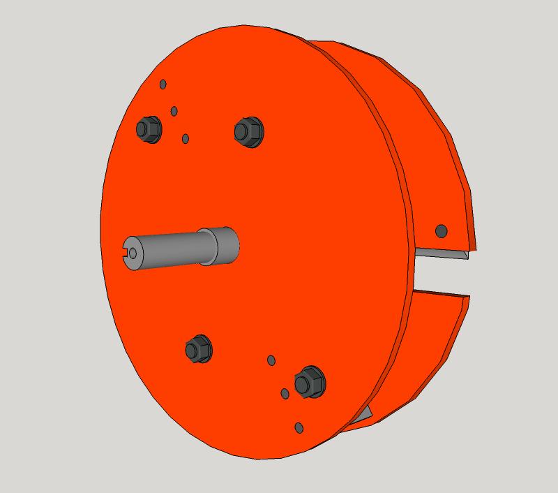 Début de Conception pour la Fabrication d'un Broyeur de Végétaux Rotor3