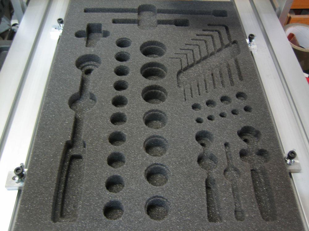 [CNC] Fabrication de mousses de calage d'outils pour servante (CNC 6040 數控銑床 ;) ) 05
