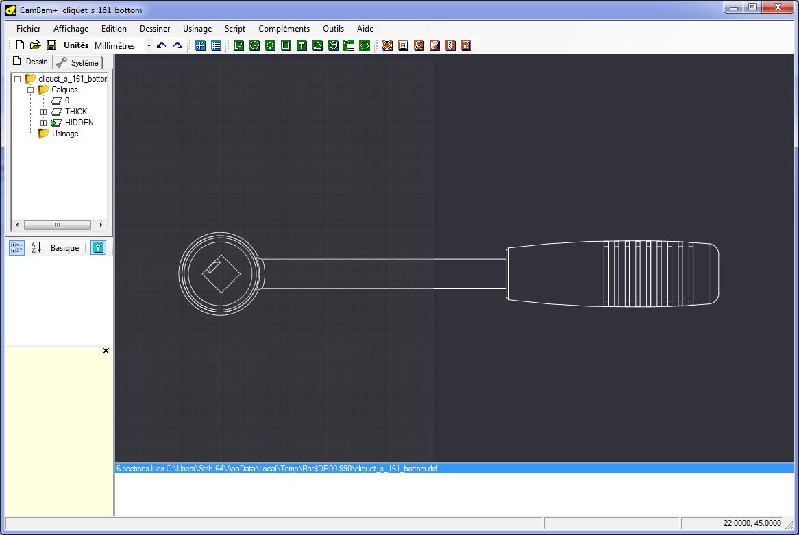[CNC] Fabrication de mousses de calage d'outils pour servante (CNC 6040 數控銑床 ;) ) Dxf1