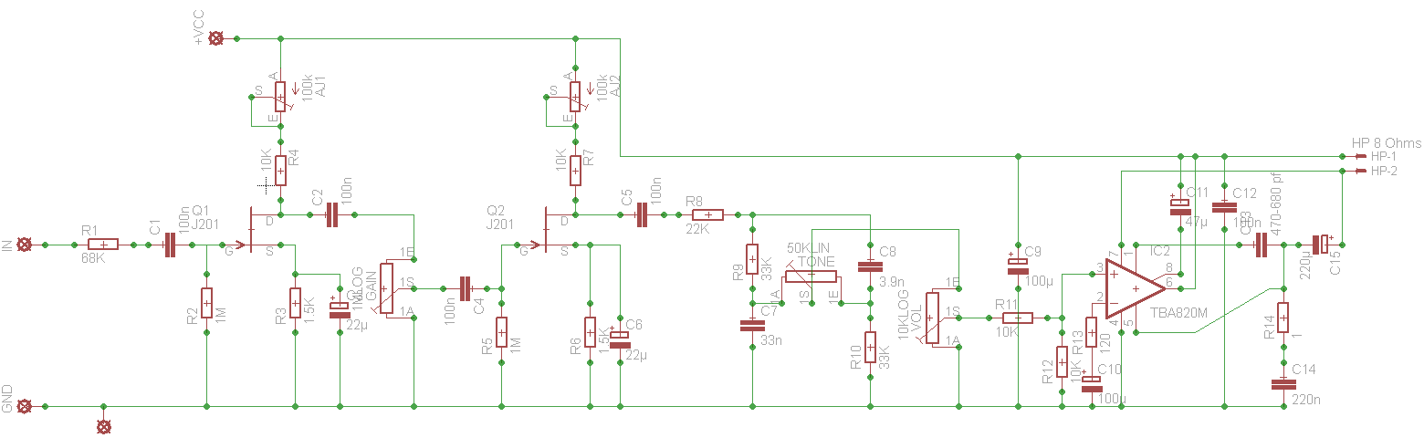 Aide deboggage circuit ampli guitare Texas_schem