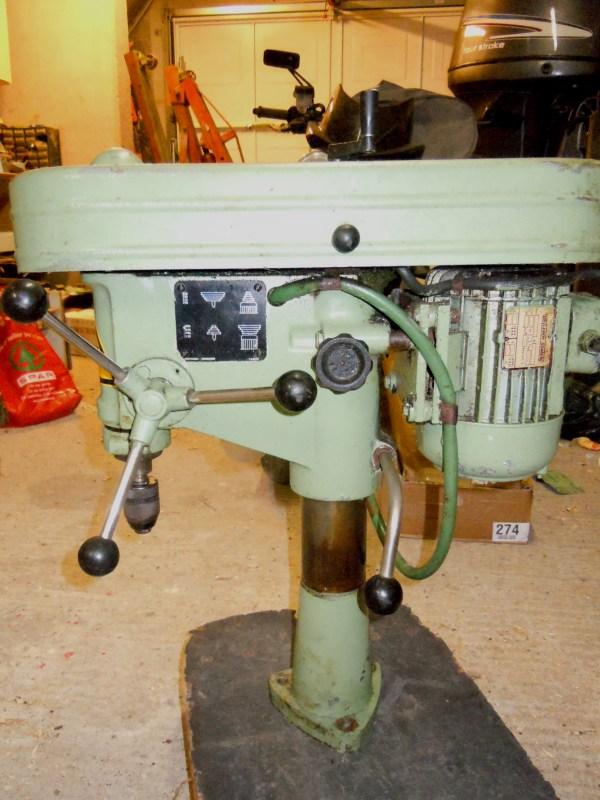 Récup Perceuse Cincinati Type PM de 1969 Vue2