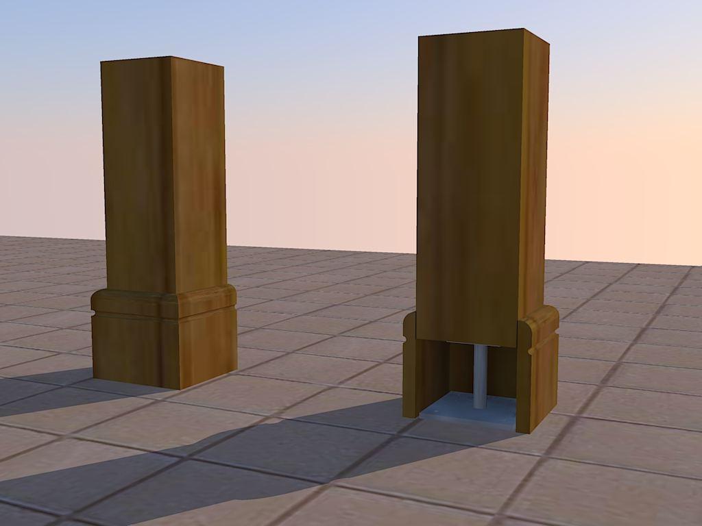 poutre verticale  Poteau2
