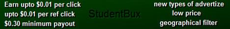 [PAGANDO] STUDENTBUX - 80% REFBACK - MÍNIMO 0.30$  Banner468X60