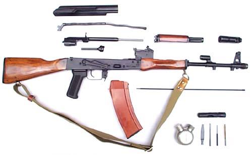 بندقية الاقتحام الآلية (كلاشينكوف) AK74_Disassembled_A