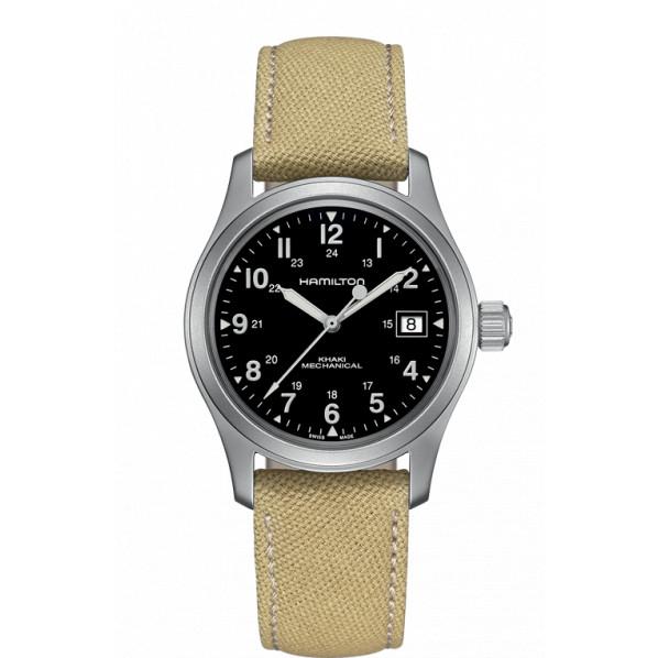 précision Hamilton Khaki Field mécanique / automatique Hamilton-khaki-field-mechanical-bracelet-fauve