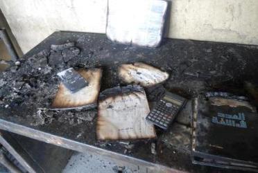 أحداث جارية  Burned_room_31012013_university_of_khartoum-5632d