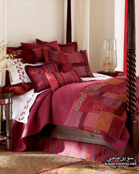 ديكورات مفارش سرير بالوان رائعه Supermamya371e62304