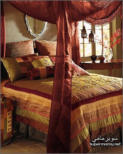 ديكورات مفارش سرير بالوان رائعه Supermamye37389e787