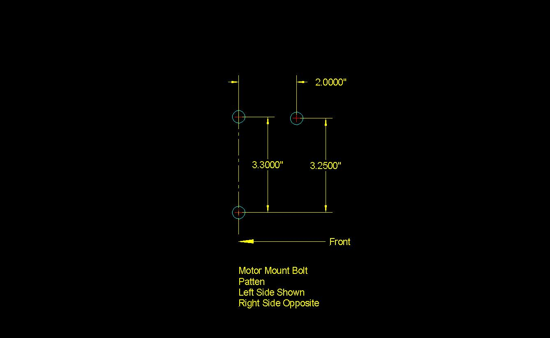Engine Mounts Motor-mount-bolt-pattern