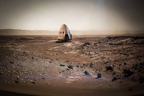 Martian Destiny - let the games begin  Spacex-Red-Dragon-Mars