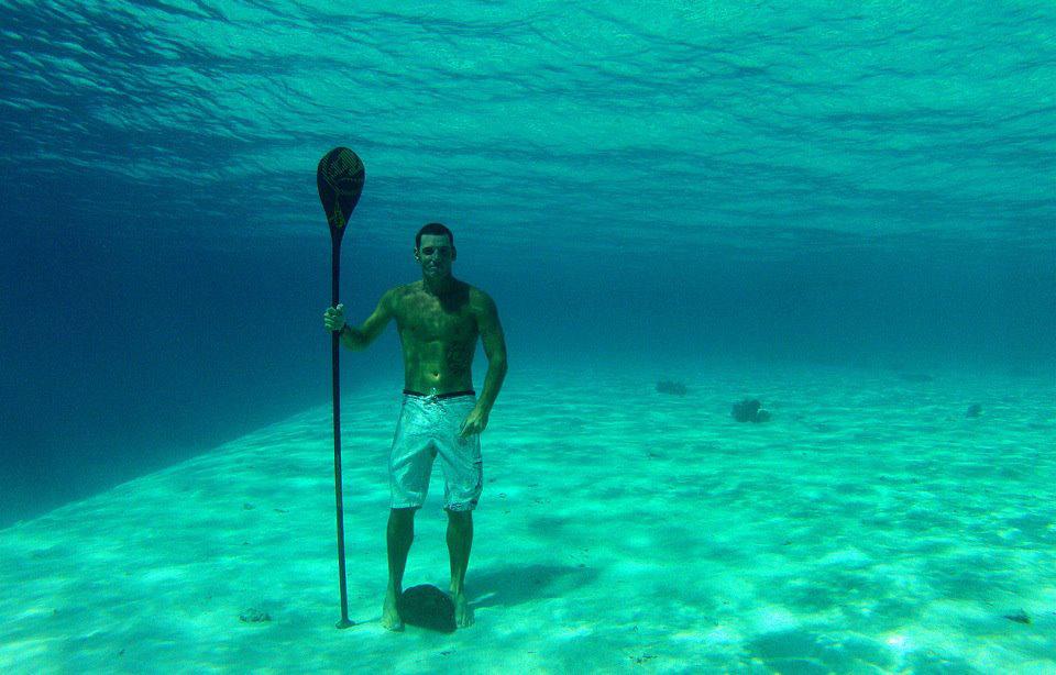 Pagaie Carbone pour un anniversaire! Underwater-SUP-World