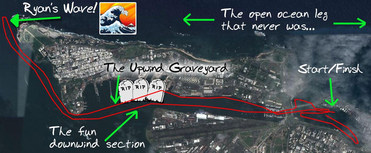 comment garder le cap en race par vent de travers ou 3/4? - Page 6 Paddle-Royal-2013-course-map