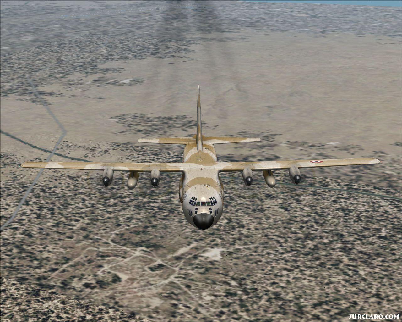 محاكي طائرة السي 130 H لمصر Egypt_C-130_in_flight
