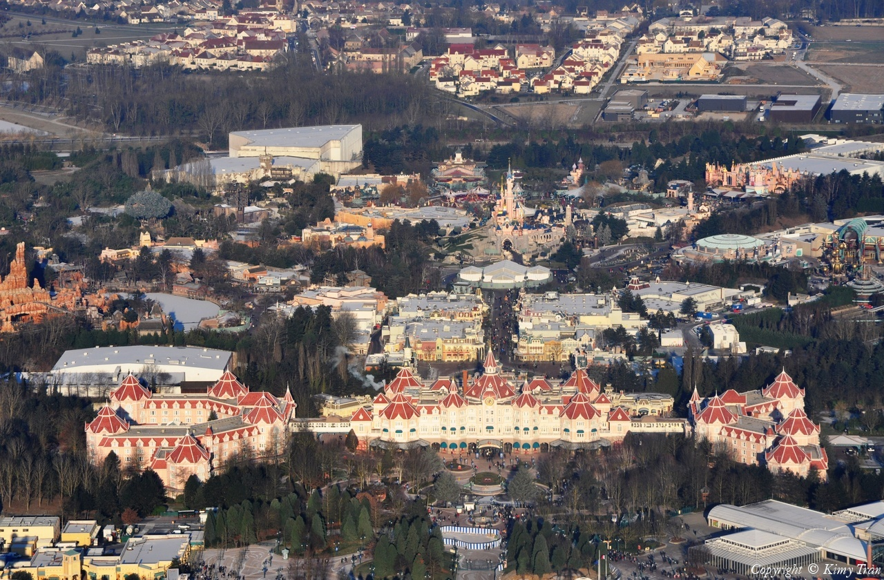 Disneyland® Paris vista dall'alto 36182