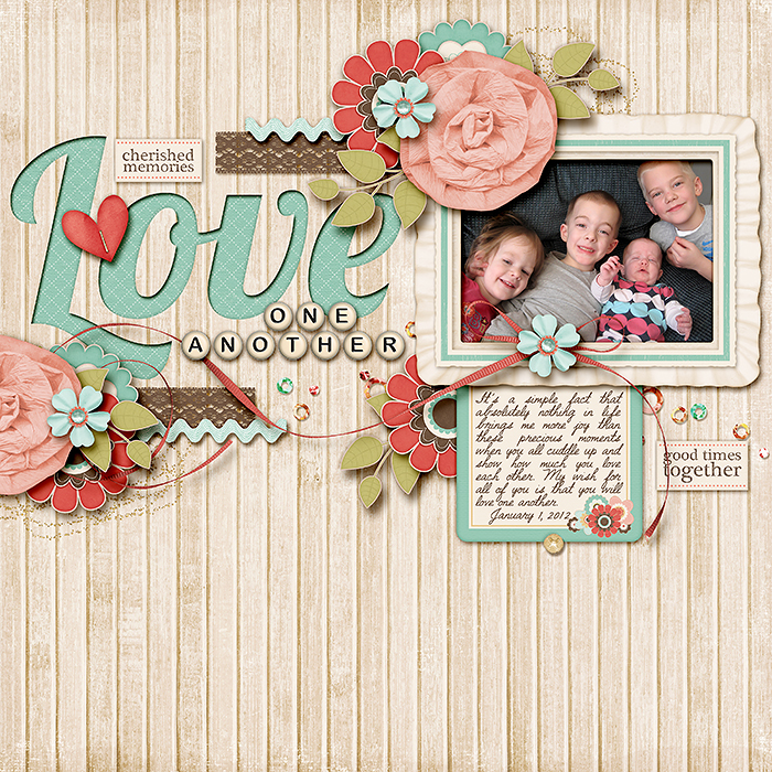 Three Methods for Creating Cut Outs on your Layouts 120101-Love-One-Another-700