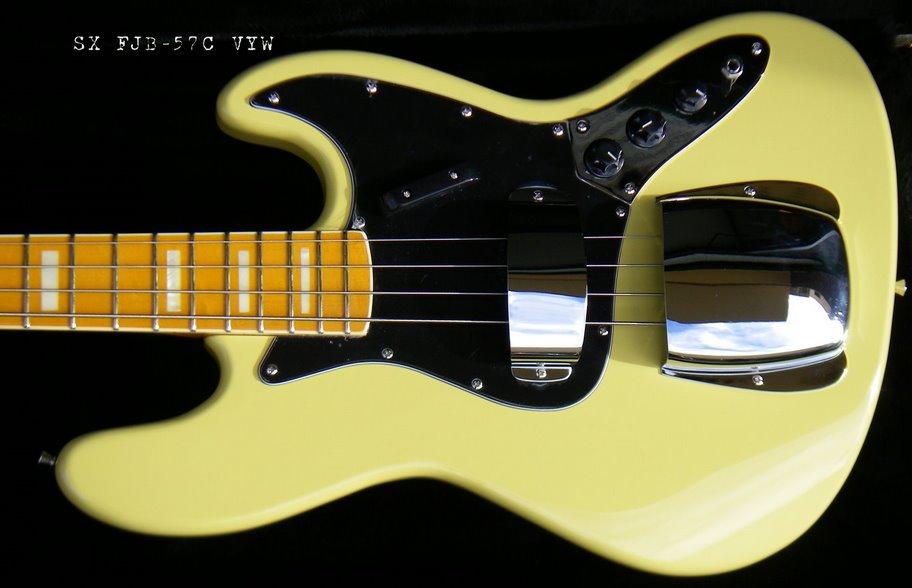 SX com headstock tipo Fender Sx-fjb57c-vyw4082