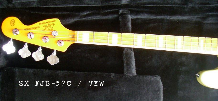 SX com headstock tipo Fender Sx-fjb57c-vyw4132