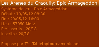 [BloodBowl / WHB / 40K / EPIC ] 19 - 20 MAI / ARENES DU GRAOULLY / METZ 8699