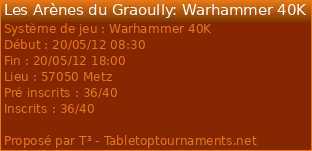 [BloodBowl / WHB / 40K / EPIC ] 19 - 20 MAI / ARENES DU GRAOULLY / METZ 8703