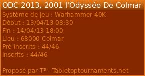 [40K] 2001 l'Odysée De Colmar, 13&14 Avril 9820