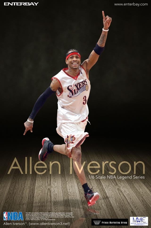 [Enterbay] NBA Legend Series: Allen Iverson (Sixers) | 1/6 scale Eba