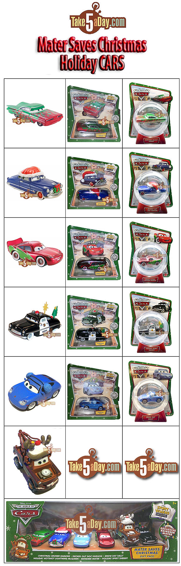 Mater Saves Christmas Set officielle disponibles aux USA Holiday-CARS-Checklist