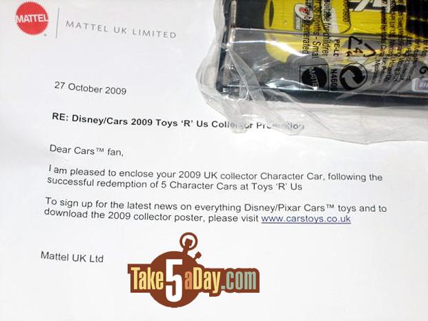 Action promotionnelle en Italie et en Angleterre.... Mattel-letter