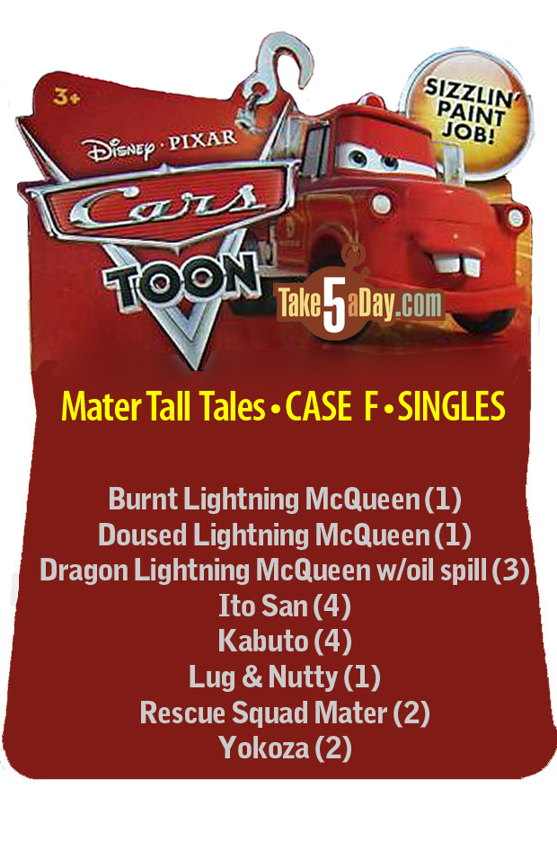 Cars Toon assortiment F Car-Toons-Singles-CASE-F