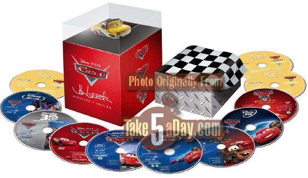 Coffret Cars 11 DVD / Blu-Ray John Lassetire Full-set