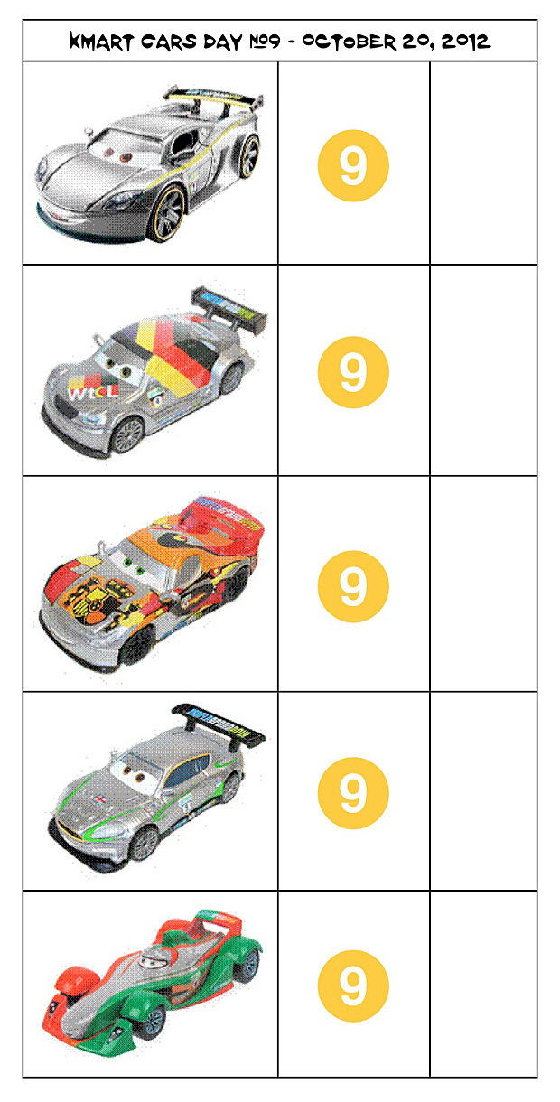 [Cars 2] Kmart Collectors Day #9 Check9