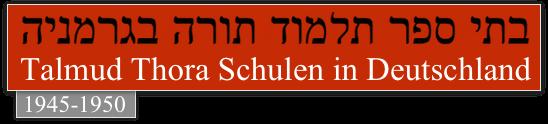 Geschichte Israel: Jüdische DP-Lager und Gemeinden in der US-Zone Logo