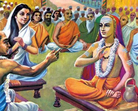 ஆதி சங்கரரின் ஆன்ம போதம் - தத்துவம் - எஸ். ராமன் Mandana-Misra-Vs-AdiShankar