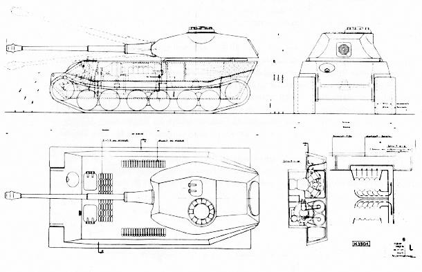 wehrmacht 46 en maquette Vk-4502-Porsche_panzer_VII-ausf-b