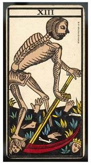 Numri - Numri 13 Old-tarot-death
