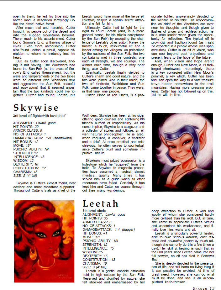 ElfQuest - translated to 2nd Edition D&D. Dragon_66_02