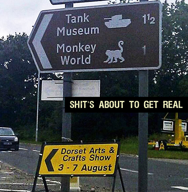 The Picture Jokes thread - Page 3 Tank-world-monkey-museum-shits-about-to-get-real-funny