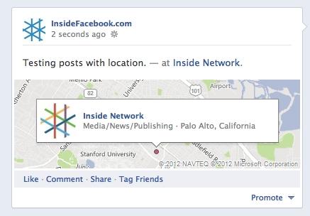 facebook يضيف تقنية تحديد الاماكن للصفحات PagesLocation