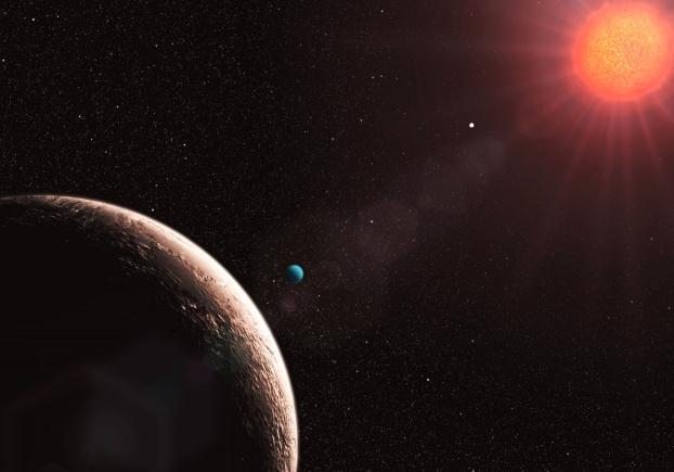 """Gliese 581 c,d et e, candidates potentielles au Titre des """"planètes abritant la vie""""? Exoplanete-Gl581e"""