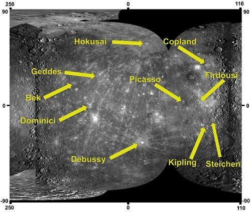 Messenger - Mission autour de Mercure - Page 10 Mercure-crateres-iau