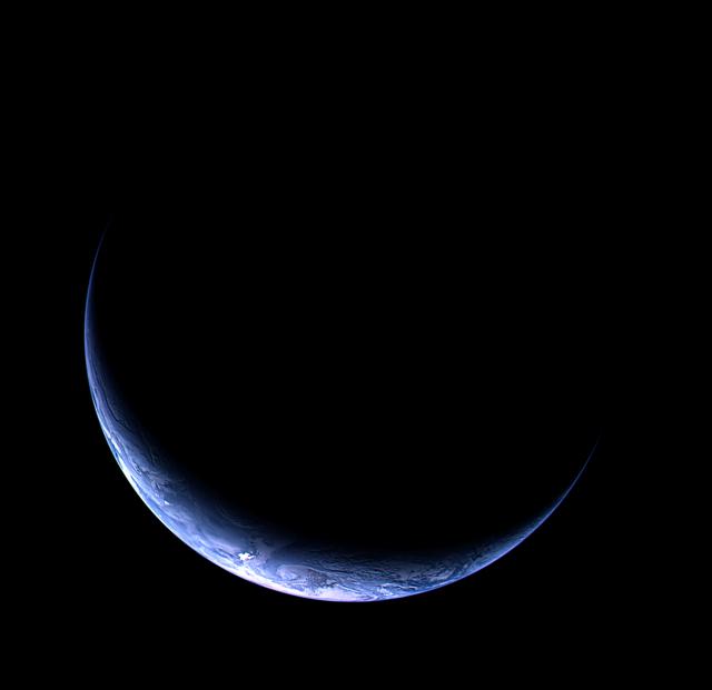 Première vue de la Terre lors de l'approche de Rosetta Terre-rosetta