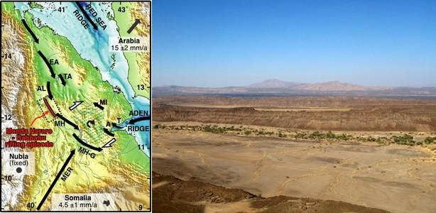 Une crise sismo-volcanique en cours vue par la géodésie spatiale Rift-sismovolcanisme-1