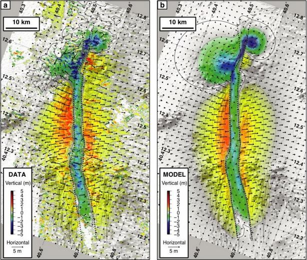 Une crise sismo-volcanique en cours vue par la géodésie spatiale Rift-sismovolcanisme-2