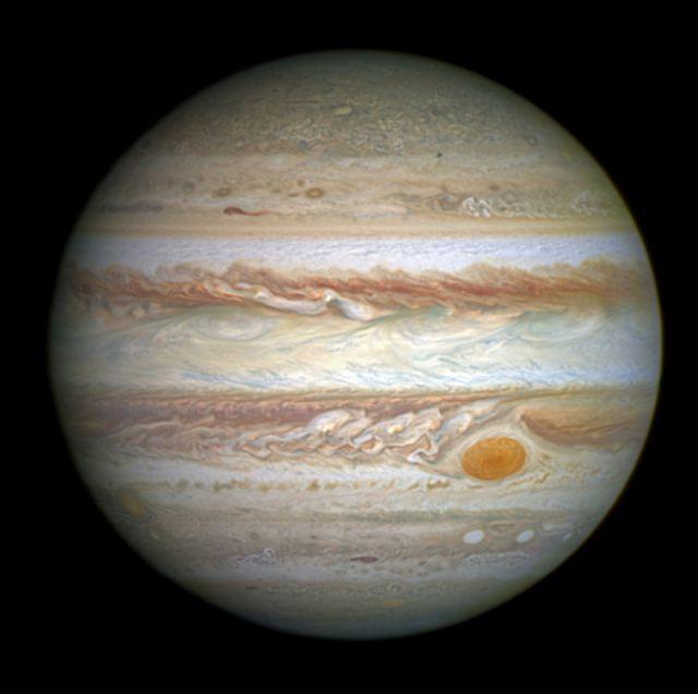 drôles de zébrures ; autour des rayures ! Jupiter-vue-de-Hubble