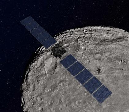Sonda Dawn revela a composição do asteróide Vesta Vesta-with-DAWN