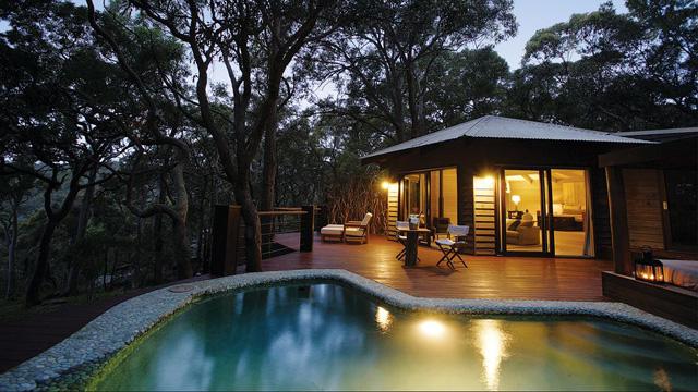 Новая Зеландия. Домик в лесу. Pretty-Beach-House-Australia-2