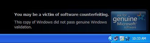 الحل البسيط لمشكلة Windows Genuine Adventage Persistent_notification