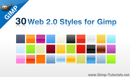 Layer styles for GIMP Gimp-styles
